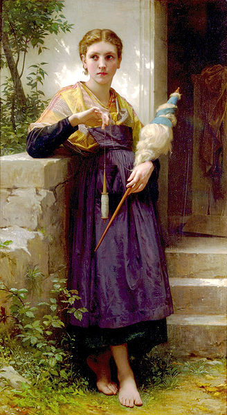 328px William adolphe bouguereau the spinner