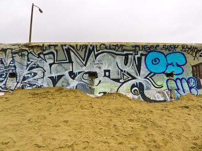 Graffiti on Ocean Beach