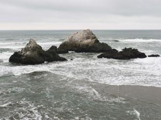 Rocks off the Ocean Beach
