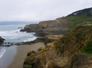 Overlooking the ruins of the Sutro Baths