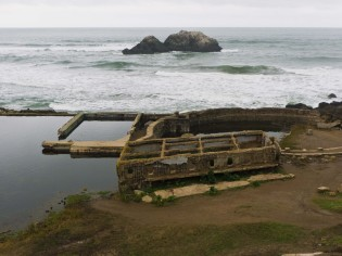 Sutro Baths. A changing room?