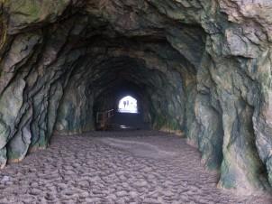 A tunnel through the hill, at the Baths