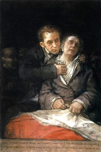 Goya attended by doctor arrieta 1820