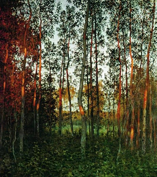 The last rays of the sun aspen forest 1897 jpg Large