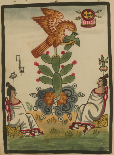 The Eagle the Snake and the Cactus in the Founding of Tenochtitlan WDL6749
