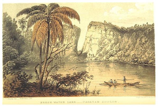 640px KEPPEL 1853 pg112 FRESH WATER LAKE CAGAYAN SOOLOO