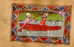 Luddan ferries Ranjha across the Chenab half