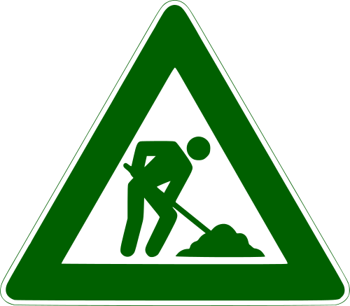 500px Men at work sign green svg