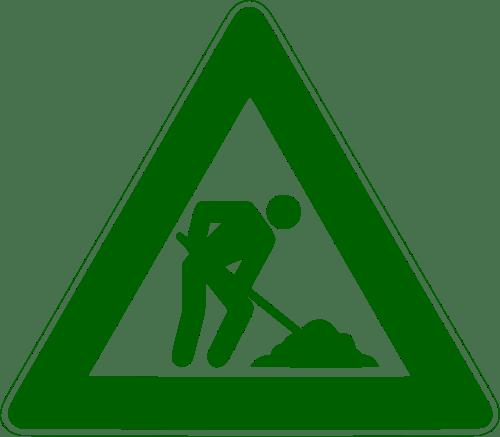 500px Men at work sign green svg