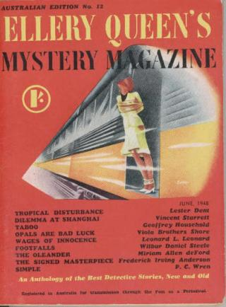 Ellery Queen's Mystery Magazine, (Australian Edition) June 1948