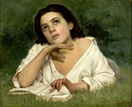 Girl with a Book - Jose Ferraz de Almeida Jr.
