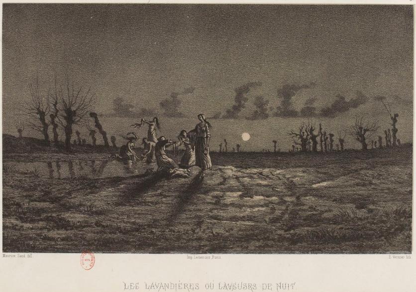 Légendes rustiques de George Sand illustrées par Maurice Sand Paris Morel 1858 3 Les Lavandières ou laveuses de nuit