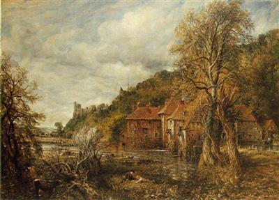 Arundel mill and castle 1837 jpg Portrait