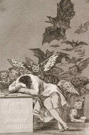 Francisco José de Goya y Lucientes The sleep of reason produces monsters No 43 from Los Caprichos Google Art Project