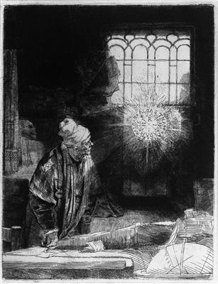 Faust, Rembrandt, c 1652