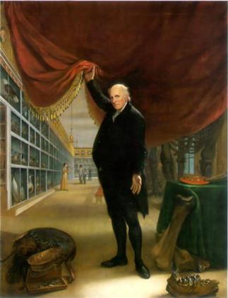 C W Peale: The Artist in his Museum (1822)